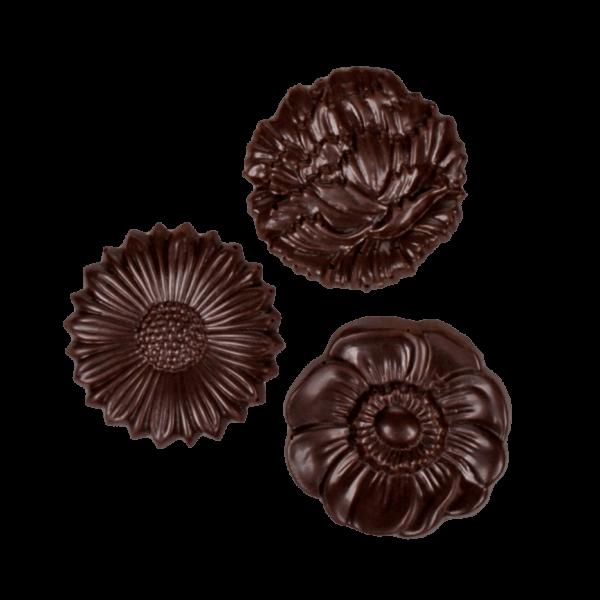 Schokoladenplättchen Blüten Zartbitter 100g