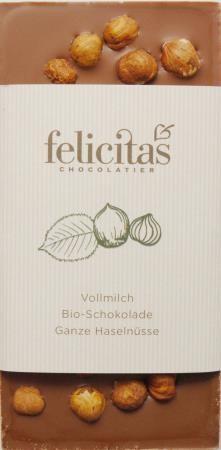 Tafelschokolade Bio mit Haselnüssen 100g