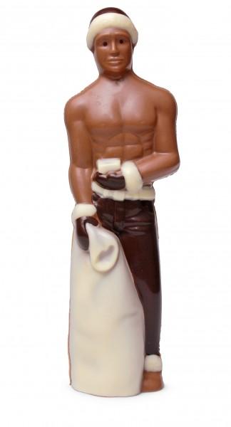 Macho-Weihnachtsmann aus Schokolade