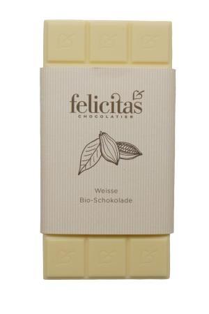 Tafelschokolade Bio weiße Schokolade 100g