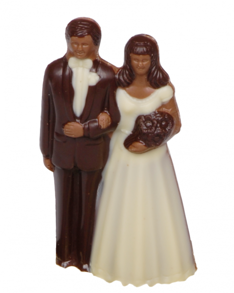 Minibrautpaar aus Schokolade