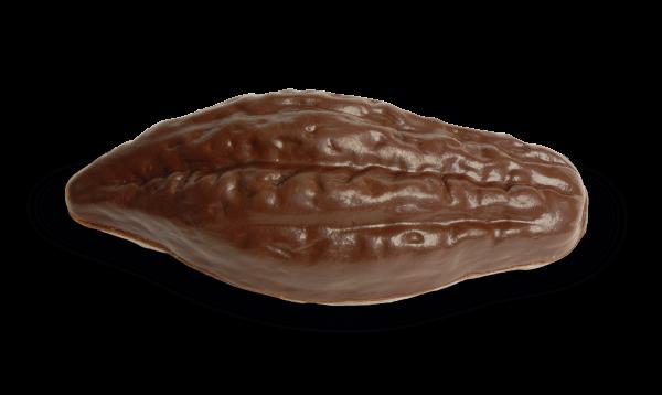 Kakaobohne aus Schokolade mit Pralinen