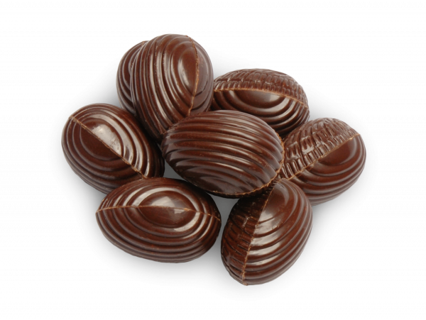 Orangeneier aus Zartbitterschokolade