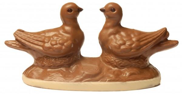 Taubenpaar aus Schokolade