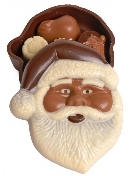 Weihnachtsmann-Bonboniere gefüllt mit Pralinen