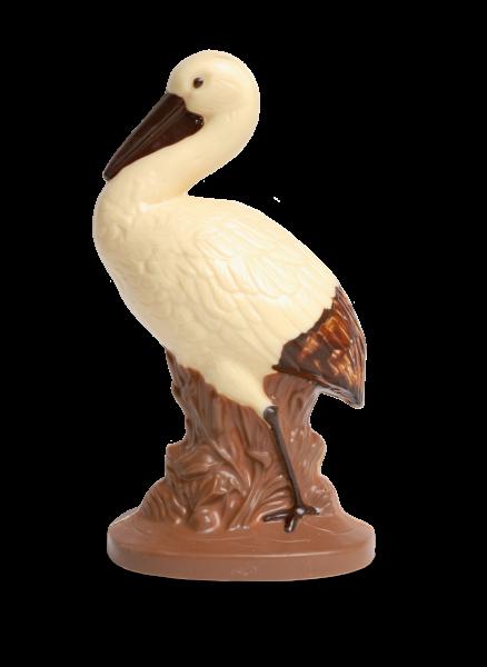 Storch groß aus Schokolade