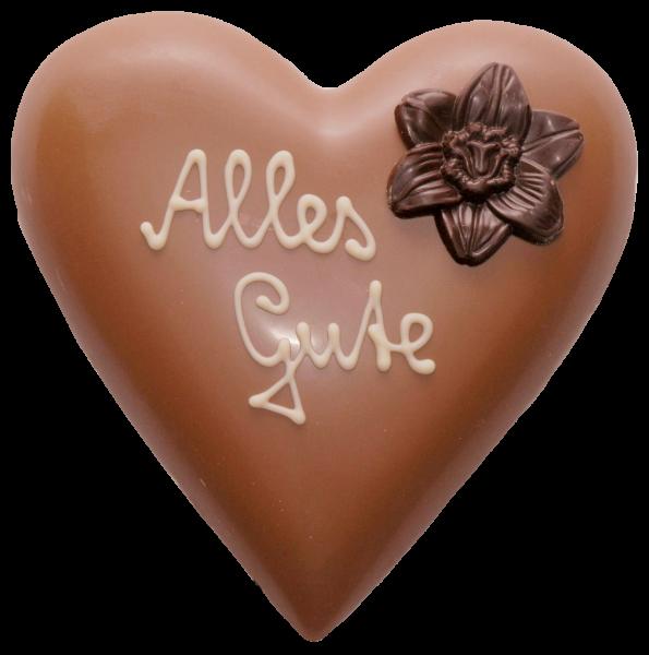 Schokoladen-Herz gefüllt mit Pralinen