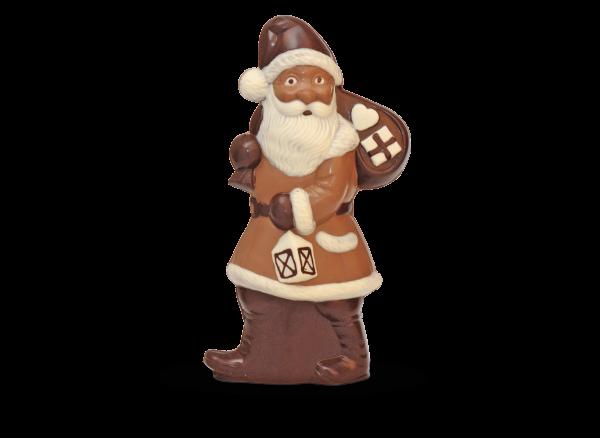 Weihnachtsmann mit Sack groß aus Schokolade