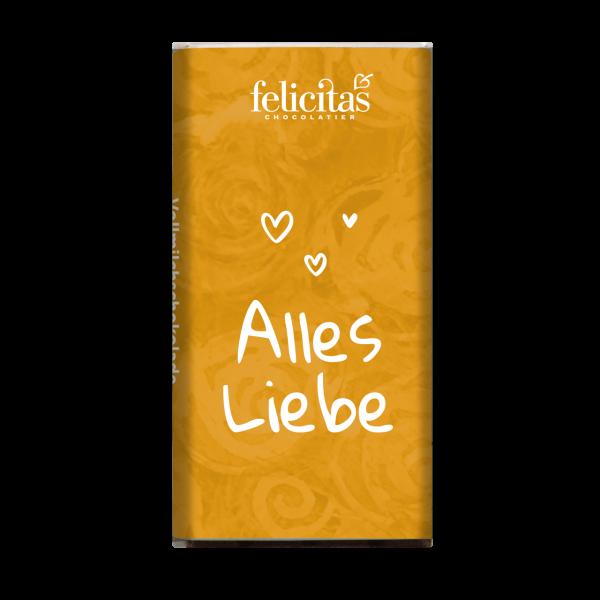 """Mini-Täfelchen """"Alles Liebe"""" Vollmilch"""