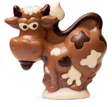 kleine Kuh aus Schokolade
