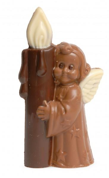 Engel mit Kerze aus Schokolade