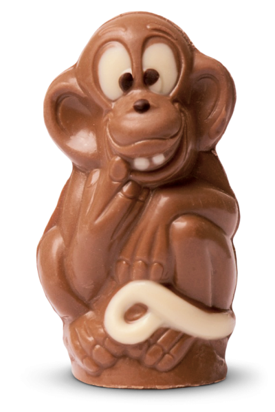 Affe aus Schokolade