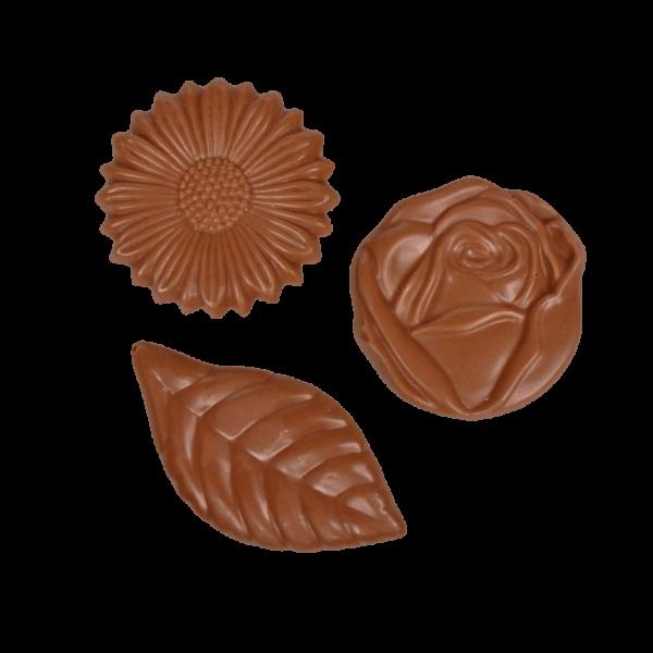 Schokoladenplättchen Blüten Vollmilch 100g