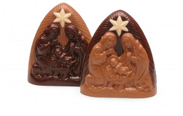 Krippenspiel aus Schokolade