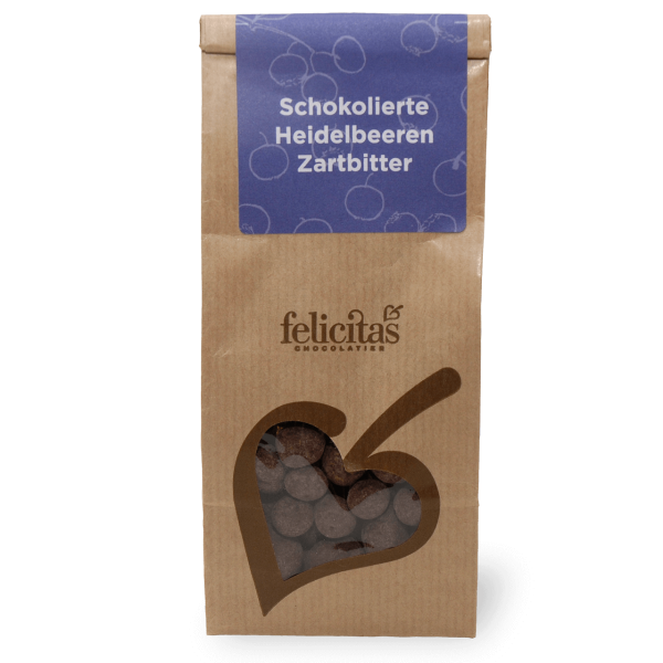 Schokolierte Heidelbeeren 150g