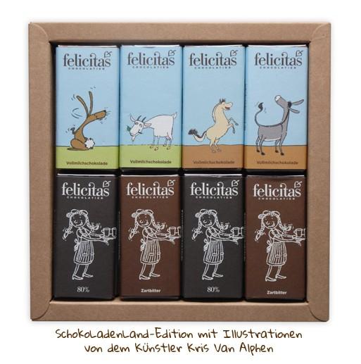 16er Mini-Täfelchen SchokoLadenLand-Edition